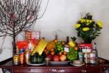 cắm hoa bàn thờ ngày tết