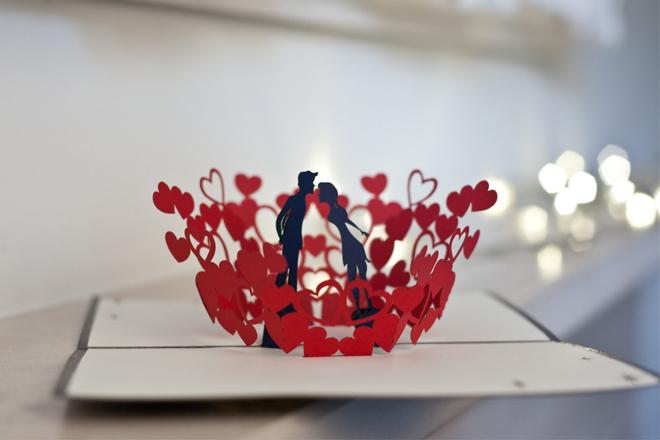 Thiệp Valentine tình yêu