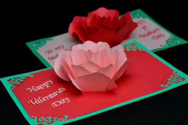 Thiệp Valentine 3D
