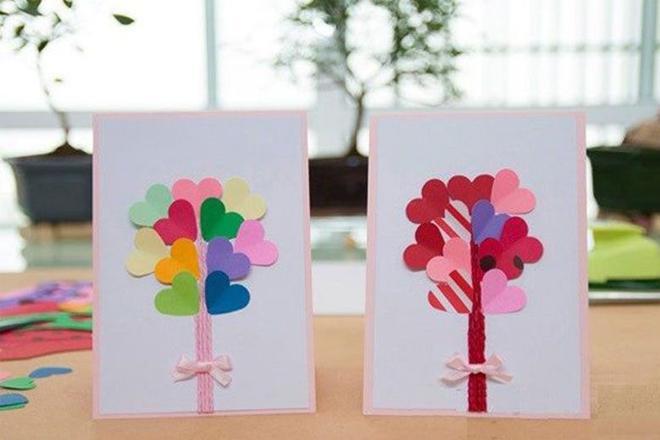 Thiệp cây tình yêu