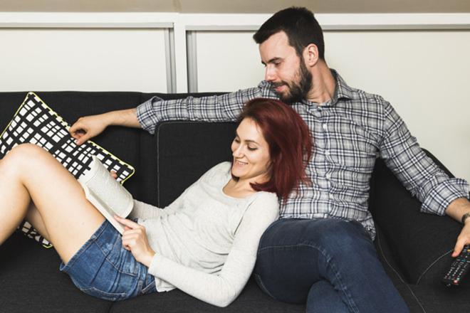 Vợ chồng thư giãn