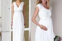 Chọn váy cưới đẹp, tinh tế cho cô dâu bầu bí