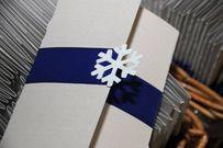 Ý tưởng thiệp mời, bánh cưới, hoa cô dâu đặc trưng của đám cưới mùa đông