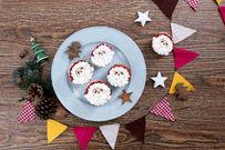 Hướng dẫn làm bánh cupcake ông già Noel và kem dừa người tuyết