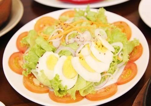 Image result for salad trứng ngỗng