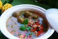 Cách nấu canh ngao chua với sấu cực ngon
