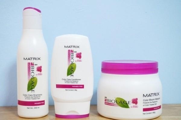 dau goi cho toc nhuom matrix biolage color care shampoo