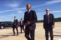 Tổng thống Obama lại tháo nhẫn khi bắt tay người dân Mỹ