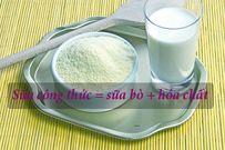Thực hư thông tin sữa công thức = sữa bò + hóa chất