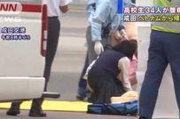 34 học sinh Nhật Bản phải nhập viện khi máy bay vừa hạ cánh