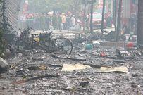 Hiện trường tan hoang sau vụ cháy quán karaoke trên phố Trần Thái Tông