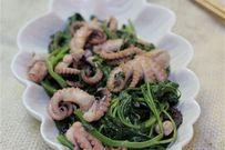 Cách làm món bạch tuộc xào rau muống ngon giòn mê mẩn