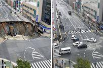 Hố tử thần 30m giữa phố, Nhật Bản sửa chữa thần tốc trong vòng 48 giờ