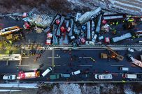 56 ô tô đâm nhau liên hoàn trên cao tốc, 17 người thiệt mạng